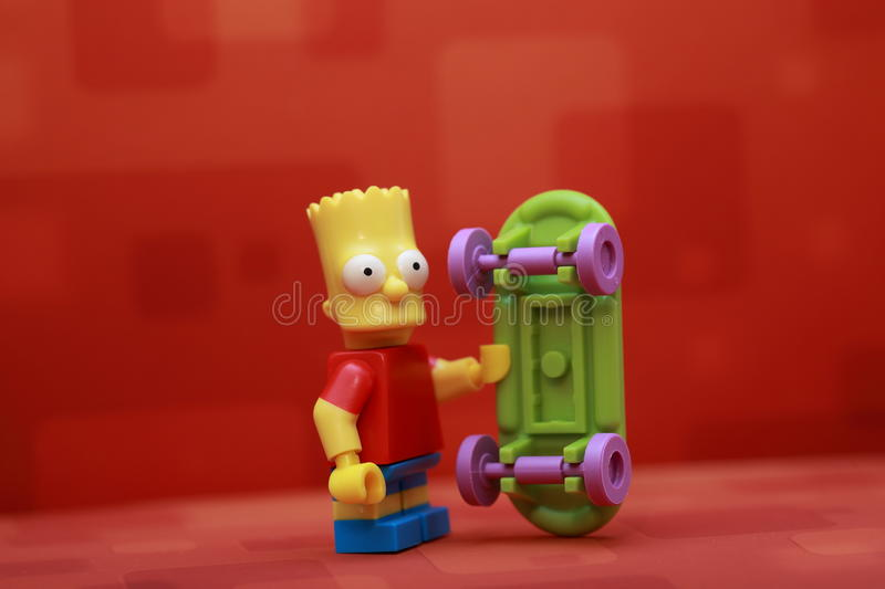 Bart Simpson. Lego Mini Figure royalty free stock photo
