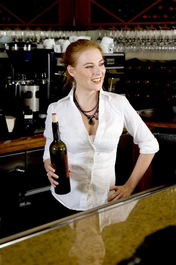 bartender αρκετά στοκ φωτογραφία