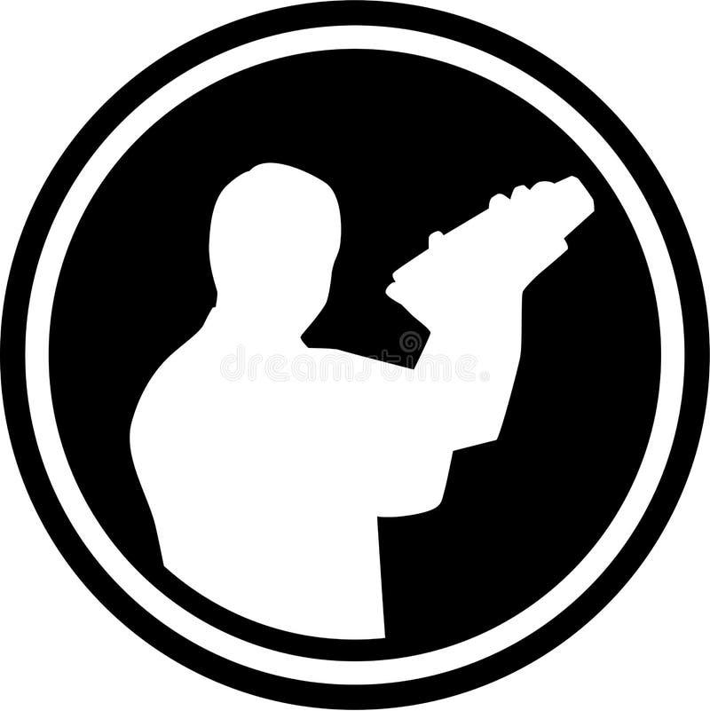 Bartender σκιαγραφία μπάρμαν διανυσματική απεικόνιση