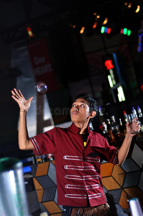 Download Bartender in actionn stock photo. Image of people, occupation - 20721028