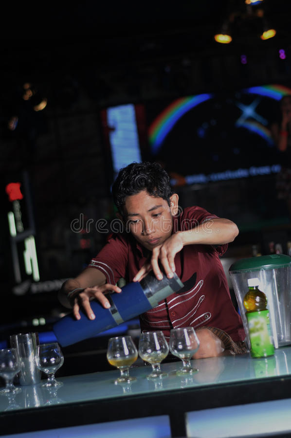 Download Bartender making drink stock photo. Image of lifestyles - 20788578