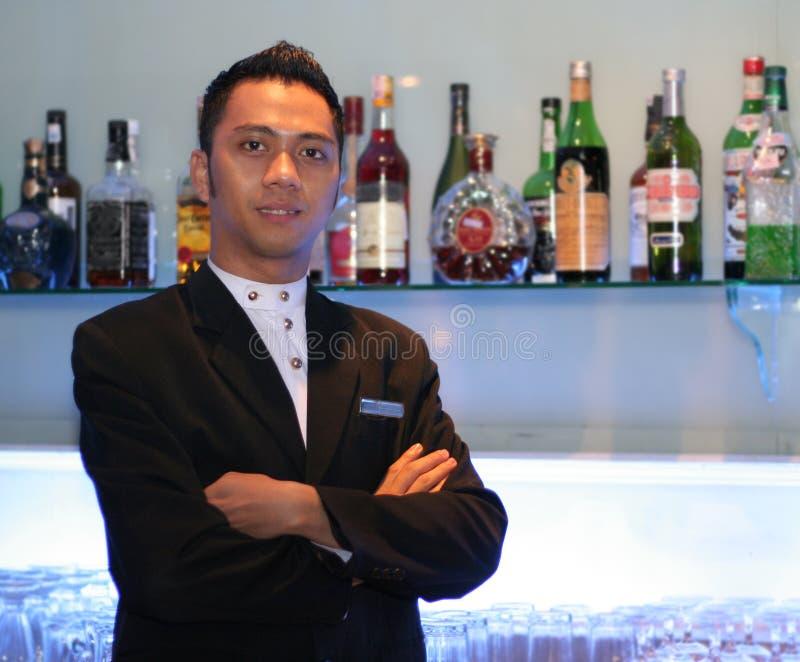 Bartender At Work Stock Photo