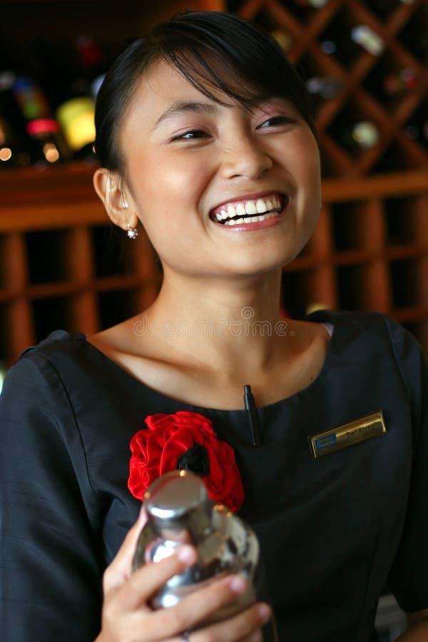 Bartenderbetjäntfavorit Min Uppassare Royaltyfria Bilder
