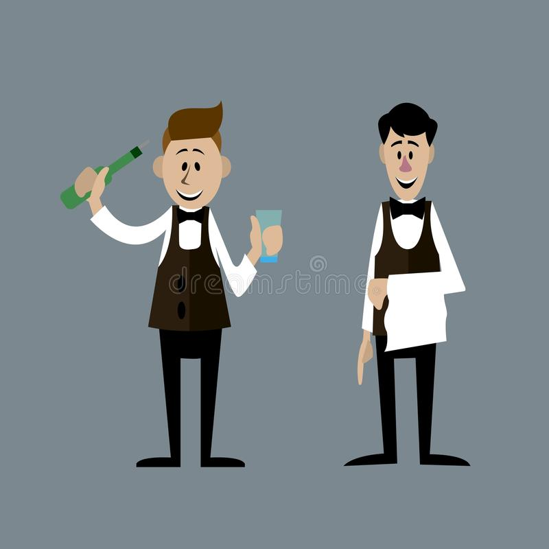 The bartenders are isolated illustration vector illustration