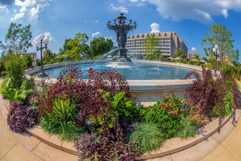 Bartholdi喷泉在华盛顿D C 库存图片