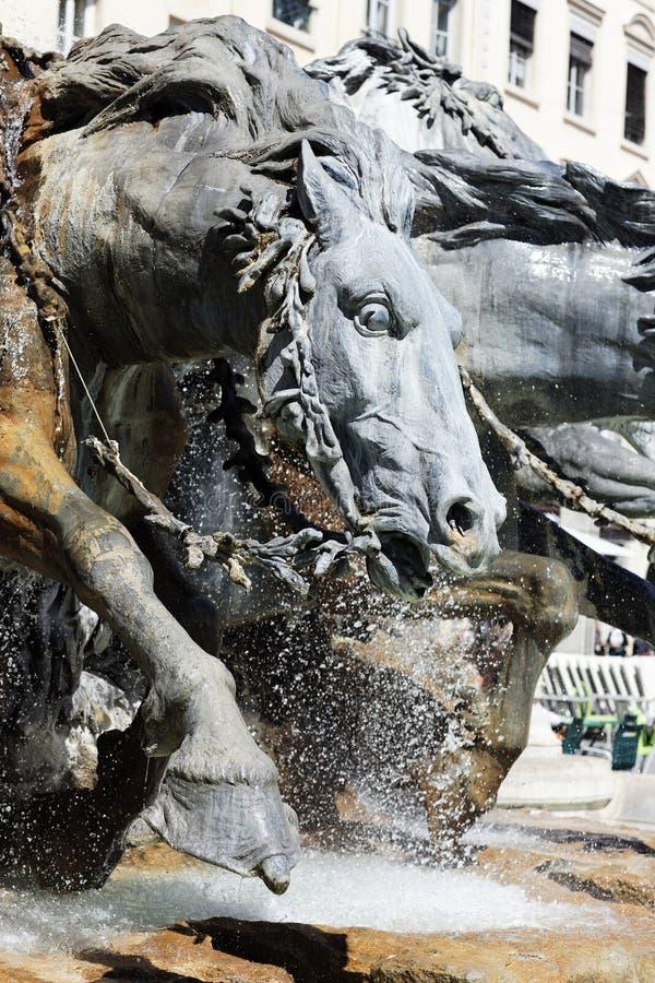 bartholdi喷泉 免版税库存照片