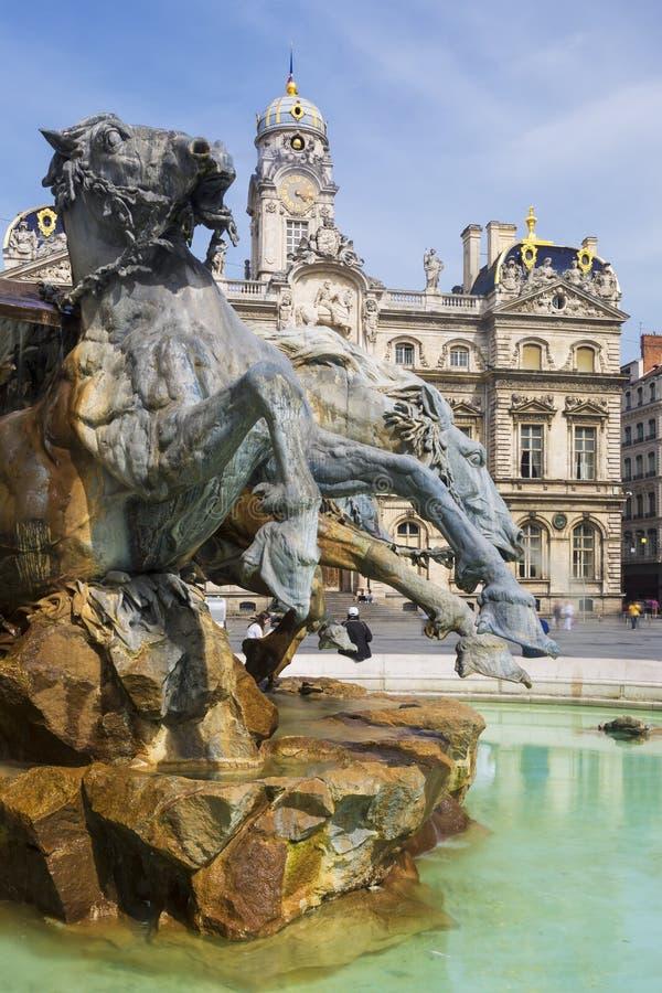 Bartholdi喷泉 库存图片