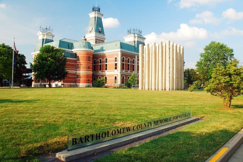 Bartholomew County Courthouse Indiana arkivbild