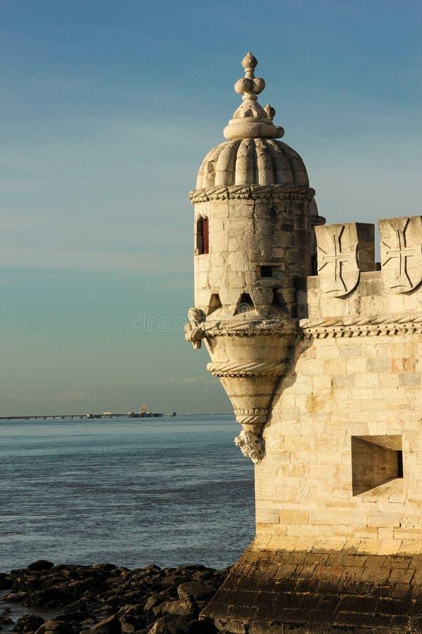 Bartizan o Guerite. Torre de Belem. Lisboa. Portugal fotos de archivo