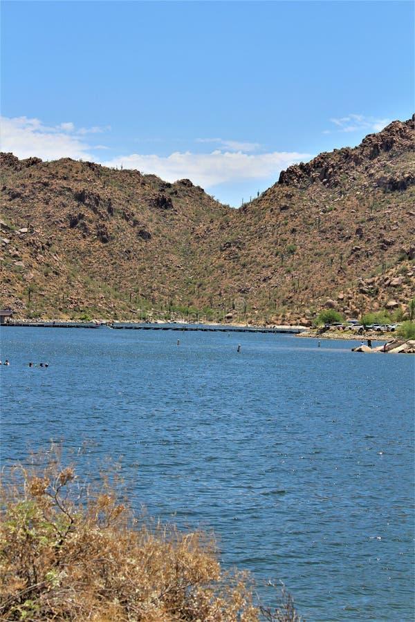 Bartlett δεξαμενή λιμνών, κομητεία Maricopa, κράτος φυσική άποψη τοπίων της Αριζόνα, Ηνωμένες Πολιτείες στοκ εικόνες