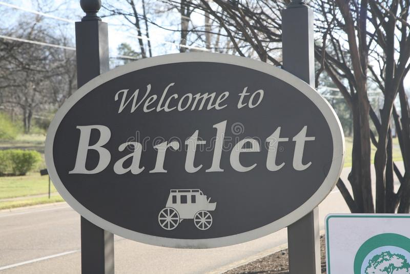 Bartlett Теннесси стоковое изображение rf