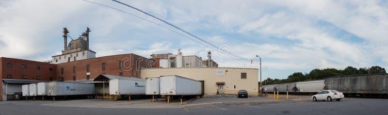 Bartlett Milling Company面粉加工厂 库存照片