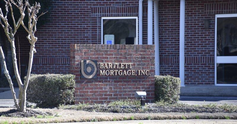 Bartlett Mortgage Yard Sign Bartlett, TN royaltyfri bild