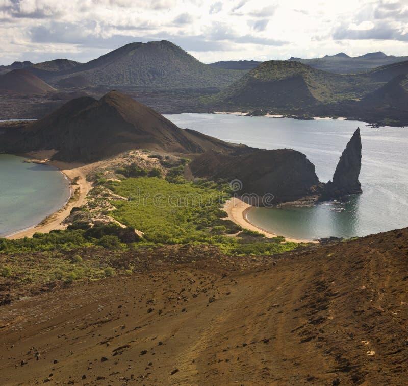 Bartolome - de Eilanden van de Galapagos royalty-vrije stock foto