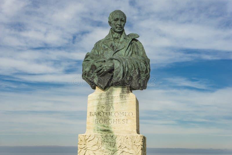 Bartolomeo Borghesi zabytek w San Marino zdjęcie royalty free