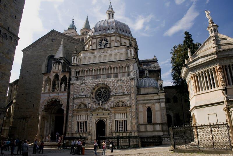 Bartolomeo Colleoni Chapel and S. Maria Maggiore Basilica - Berg stock photo