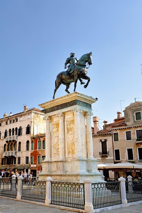 Bartolomeo Colleoni monument stock photography