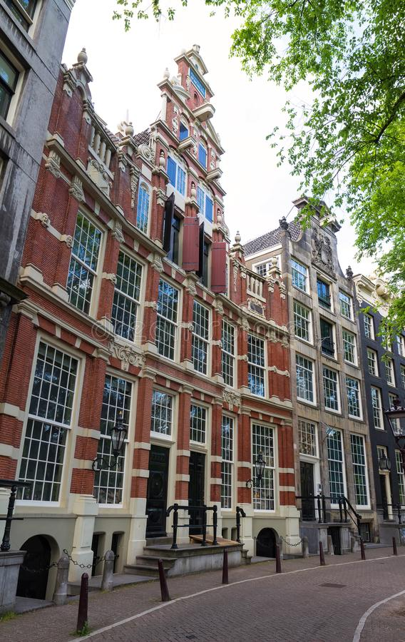 Bartolotti议院是Herengracht运河的,阿姆斯特丹17世纪运河房子 免版税图库摄影