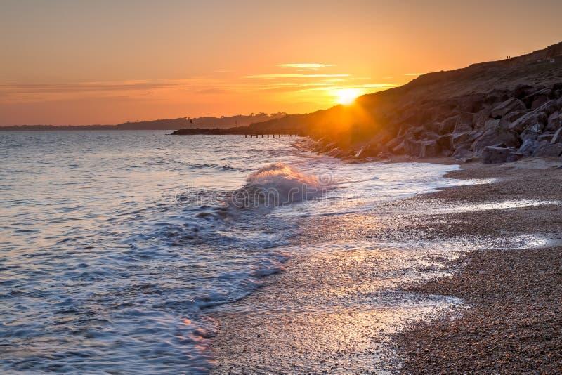 Barton-På-hav Hampshire England royaltyfri foto
