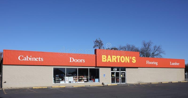 Barton ` s gabinety, drzwi, podłoga i tarcica, fotografia stock