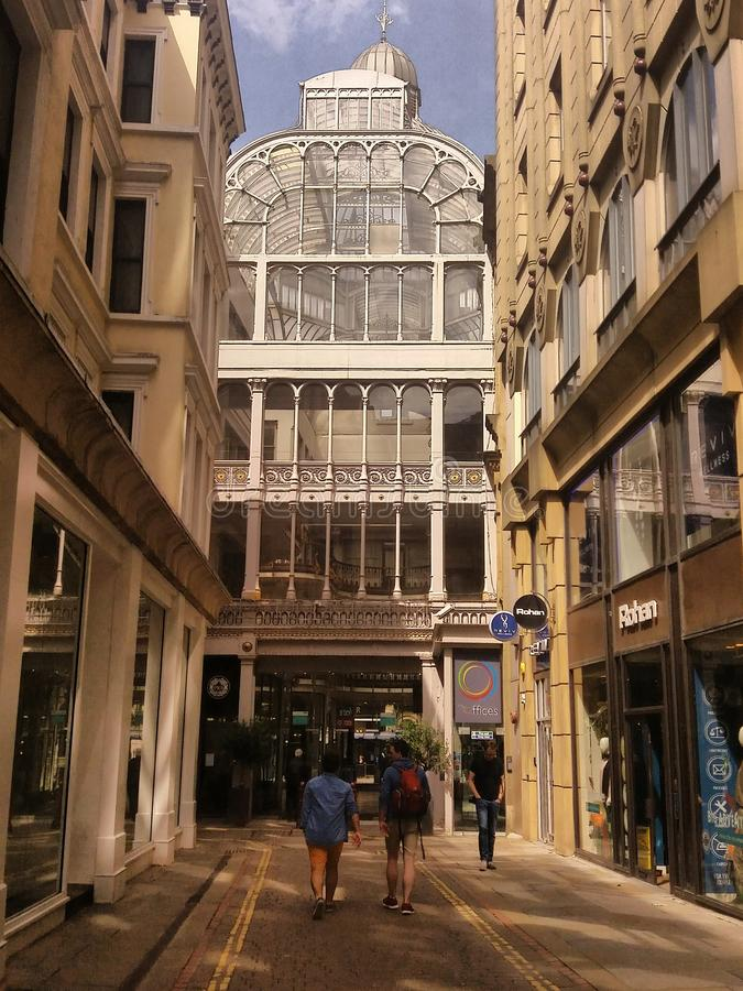 Barton shopping arcade, Manchester St. Anne`s square royalty free stock photos