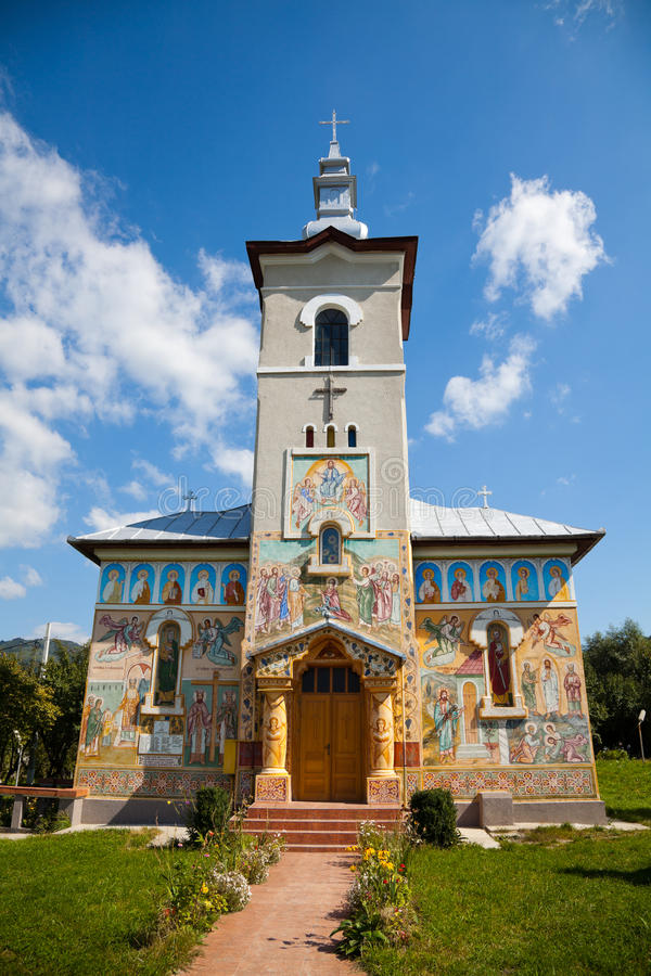Baru Church. The Orthodox church in Baru Mare village, Hunedoara county, Romania royalty free stock photo
