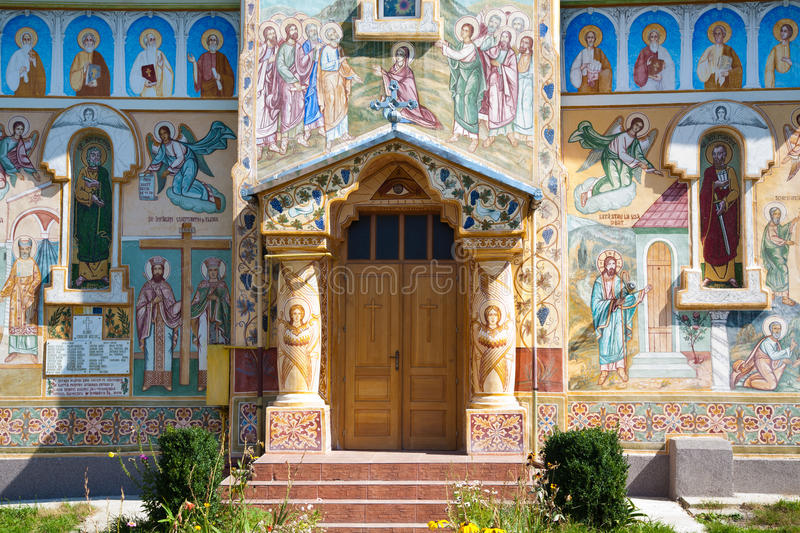 Baru Church. The Orthodox church in Baru Mare village, Hunedoara county, Romania stock photography