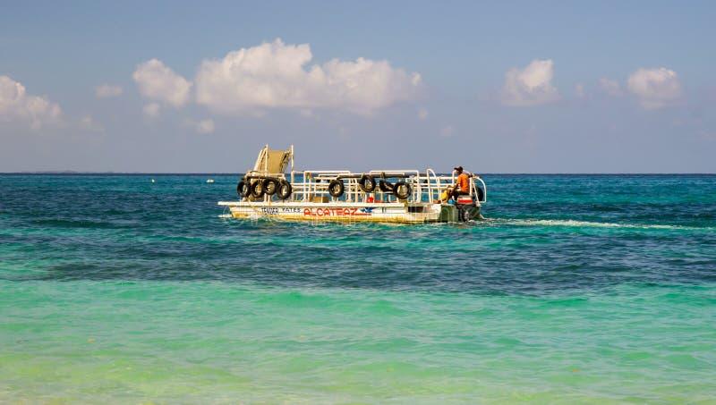 Baru Island. Tropical sea and boat tour at Baru Island near Cartagena, Colombia stock photos