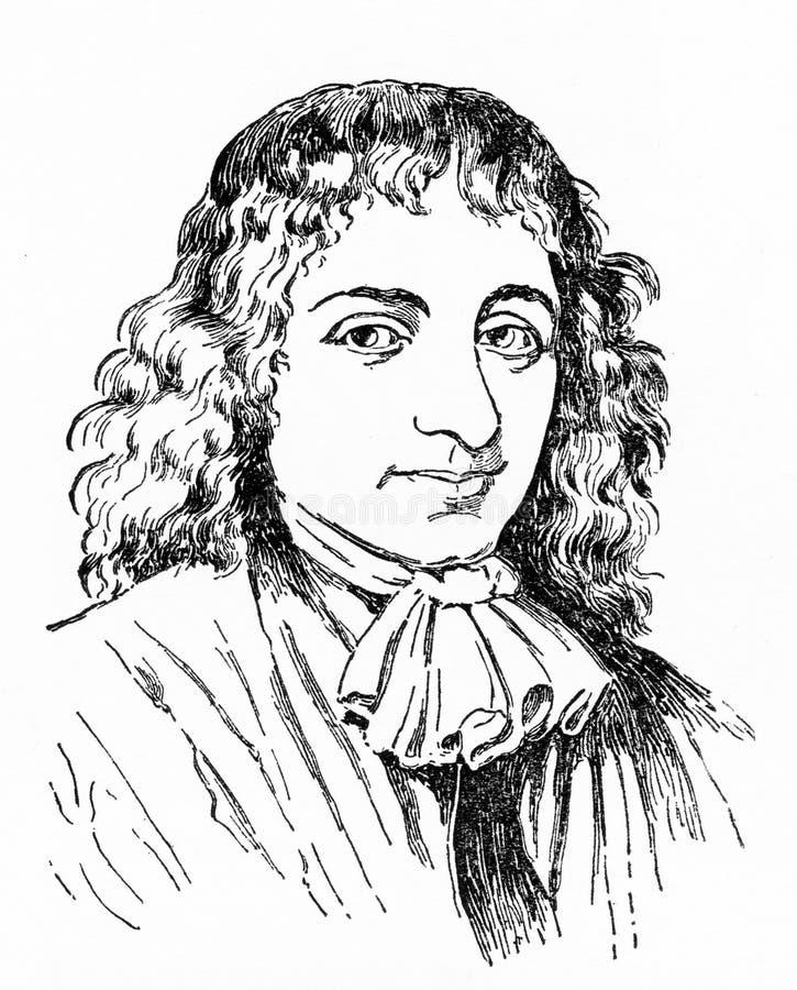 Baruch Spinoza, radykalny Żydowski filozof ilustracji