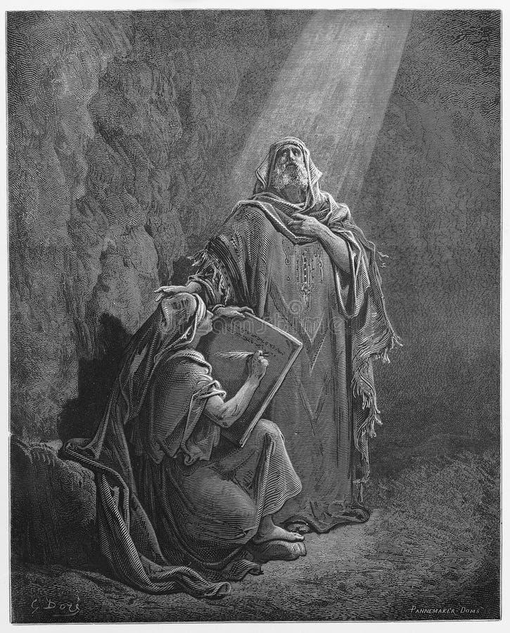 Baruch Writes Jeremiahs Prophezeiungen vektor abbildung