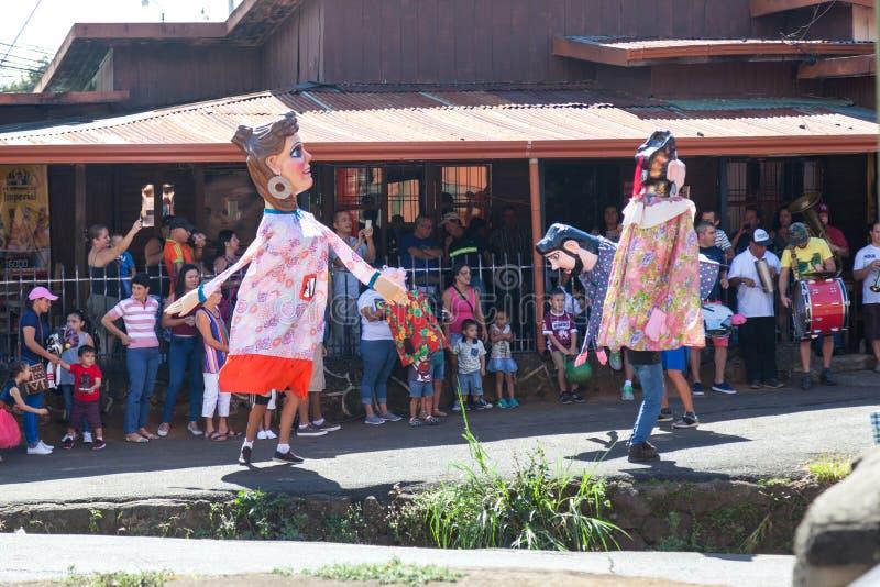 Masquerades in Costa Rica stock photos