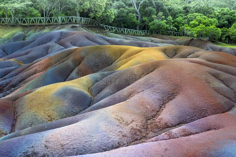 Barwiąca lawa w kraju siedem kolorów w parku narodowym obrazy stock