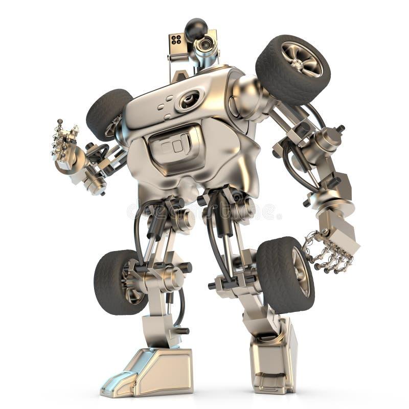 Barwiący humanoid robot royalty ilustracja