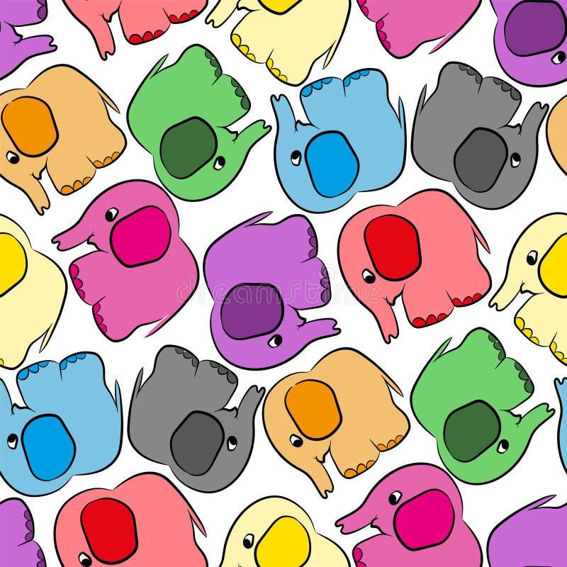 Barwiący słonia bezszwowy wzór ilustracji