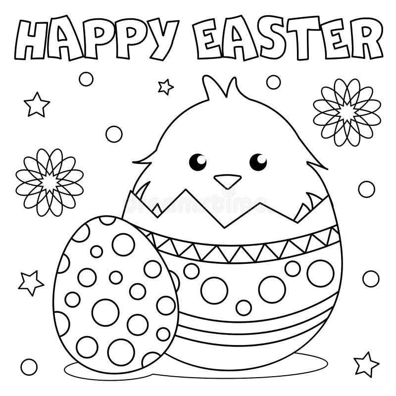 Barwiący stronę «Szczęśliwa wielkanoc « ilustracji