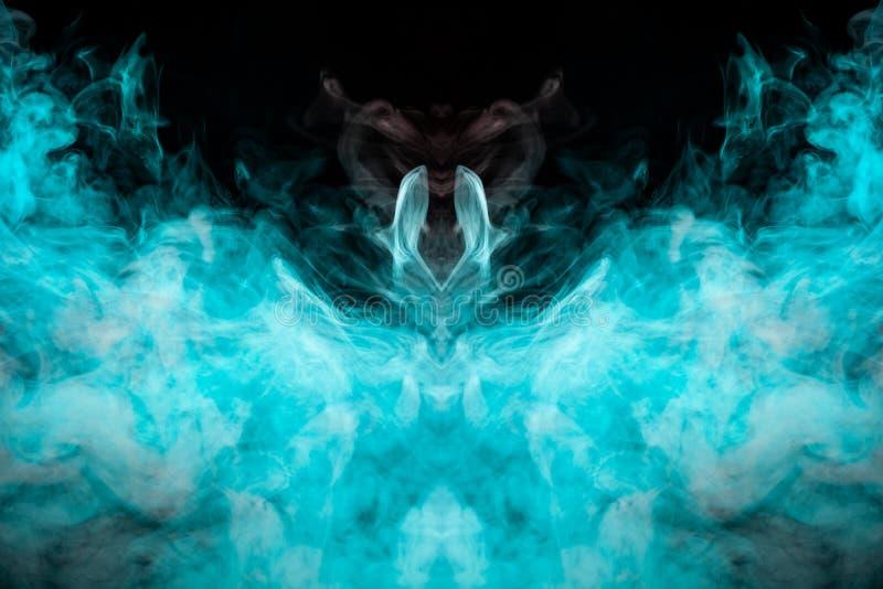 Barwiący wzór zieleń dym mistyczny kształt w th obraz royalty free