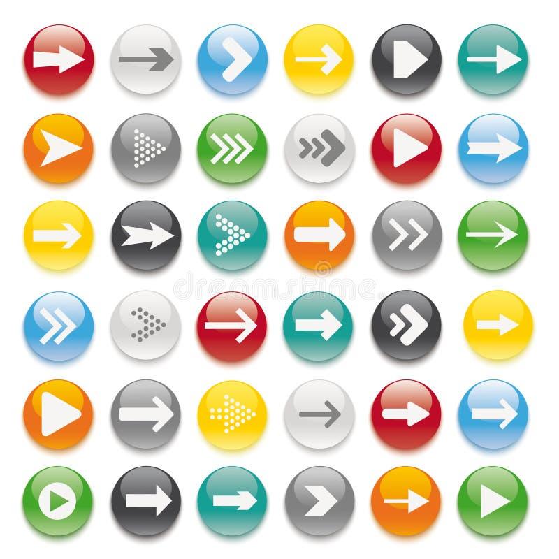 36 Barwiących guzików ilustracji