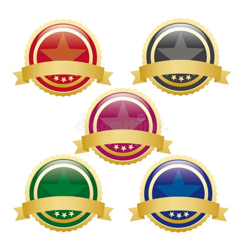 5 Barwiących Pustych guzików ilustracji