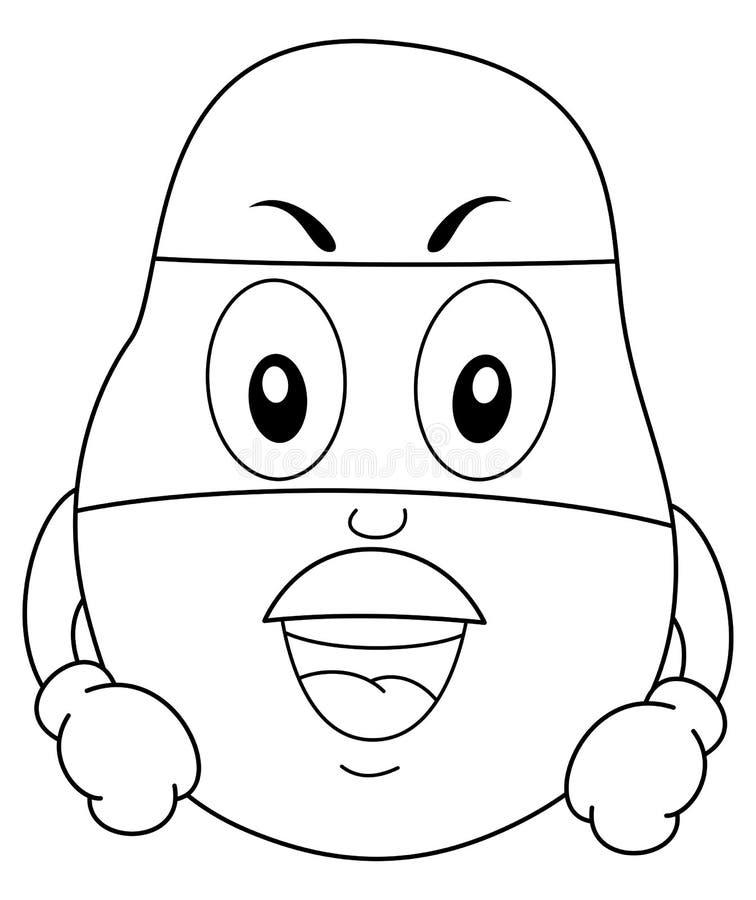 Barwić Śmiesznej bohater gruli z maską ilustracja wektor