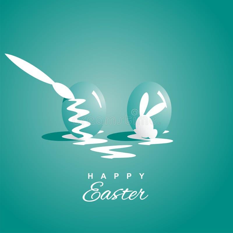 Barwić dwa Wielkanocnych jajek dennej zieleni tło