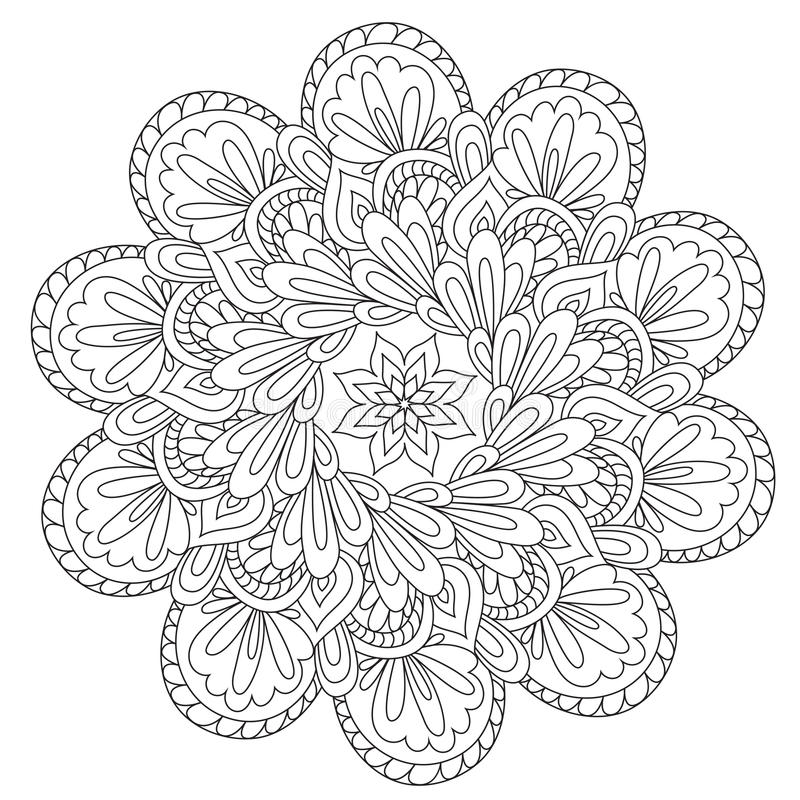 Barwić Piękny abstrakci mandala ilustracja wektor