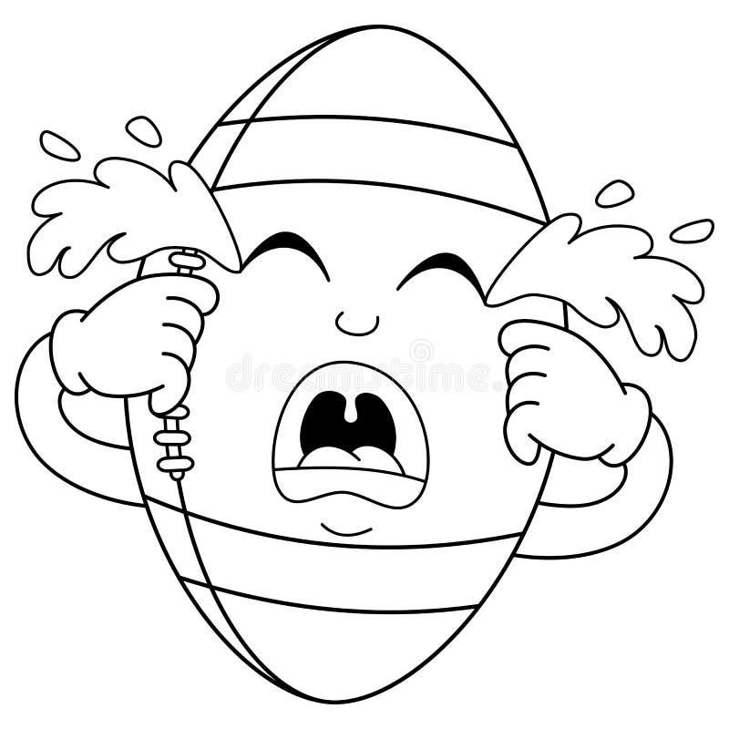 Barwić Smutnego płaczu Futbolowego Balowego charakteru ilustracji