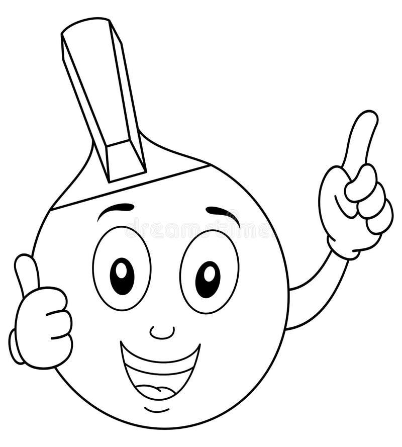 Barwić Stołowego tenisa lub śwista Pong kant ilustracji