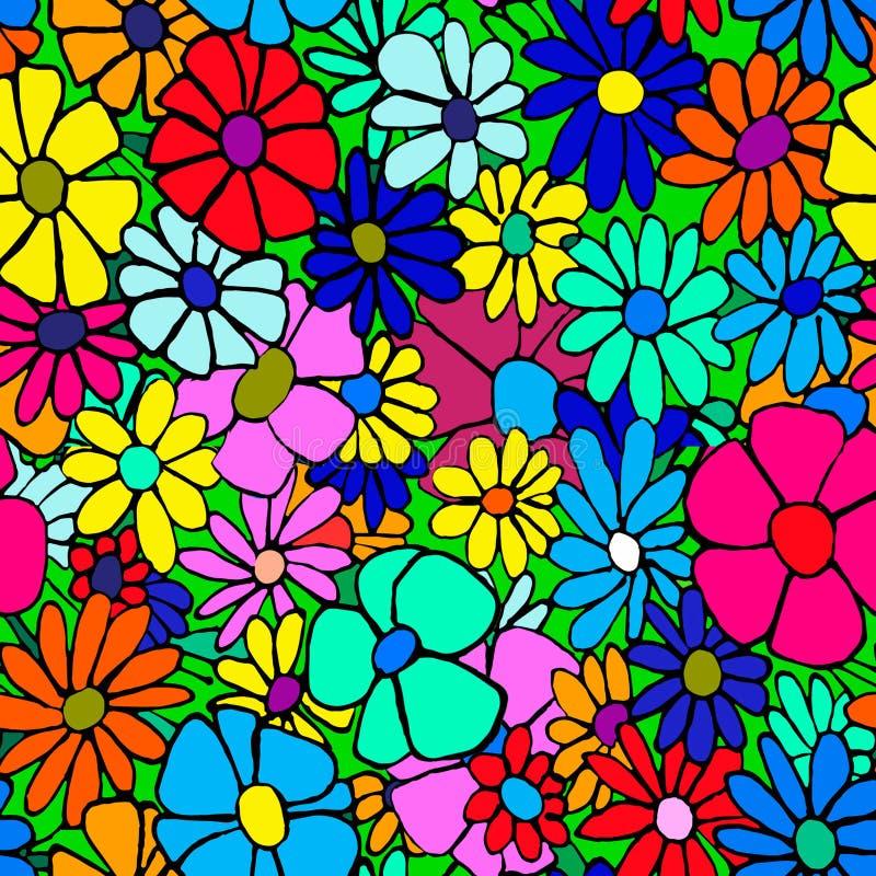 Barwić stokrotki dla niekończący się druku Graficzny wizerunek piękni kwiaty royalty ilustracja