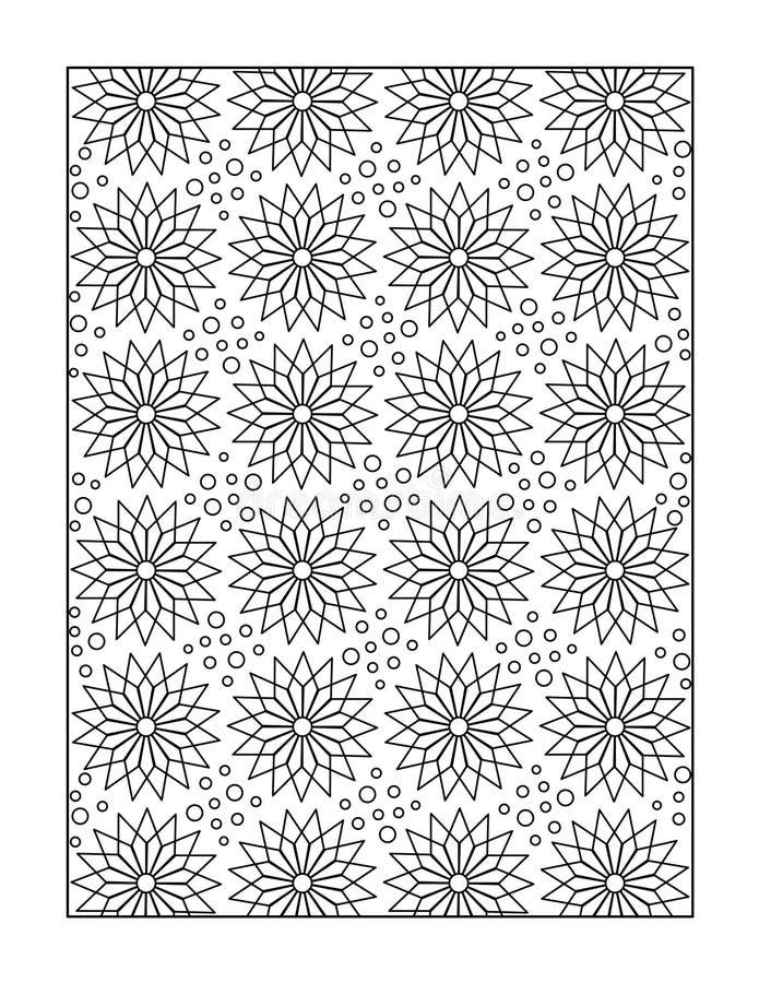 Barwić stronę dla dorosłych lub czarny i biały ornamentacyjny tło, ilustracji