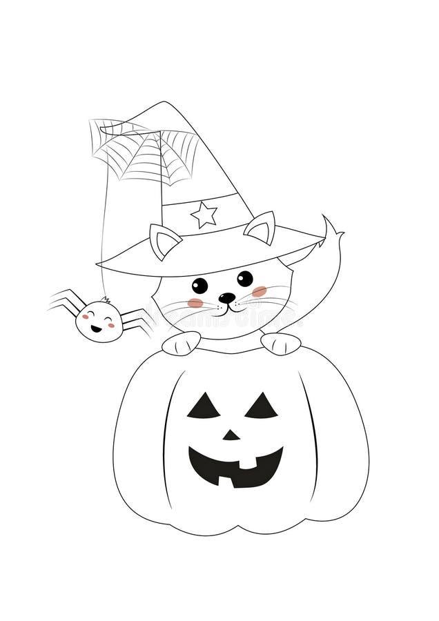 Barwić stronę, Halloween ilustracja wektor