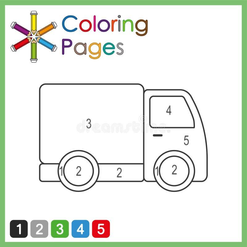Barwić stronę z ciężarowym rysunkiem zdjęcie stock