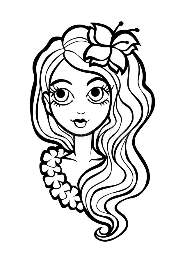 Barwić stronę z dziewczyną ilustracji