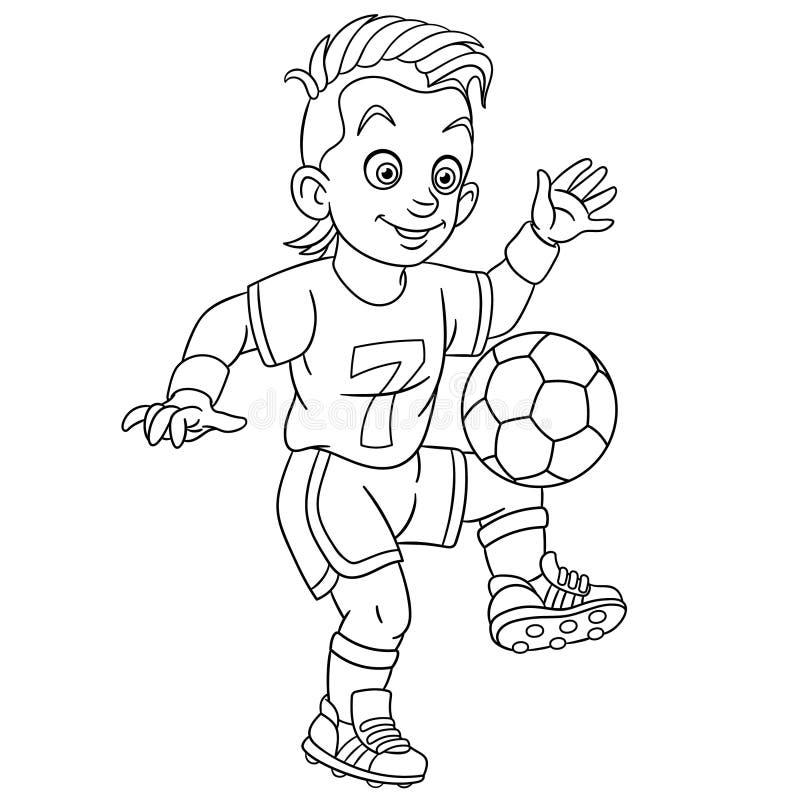 Barwić stronę z futbolisty gracz futbolu ilustracji