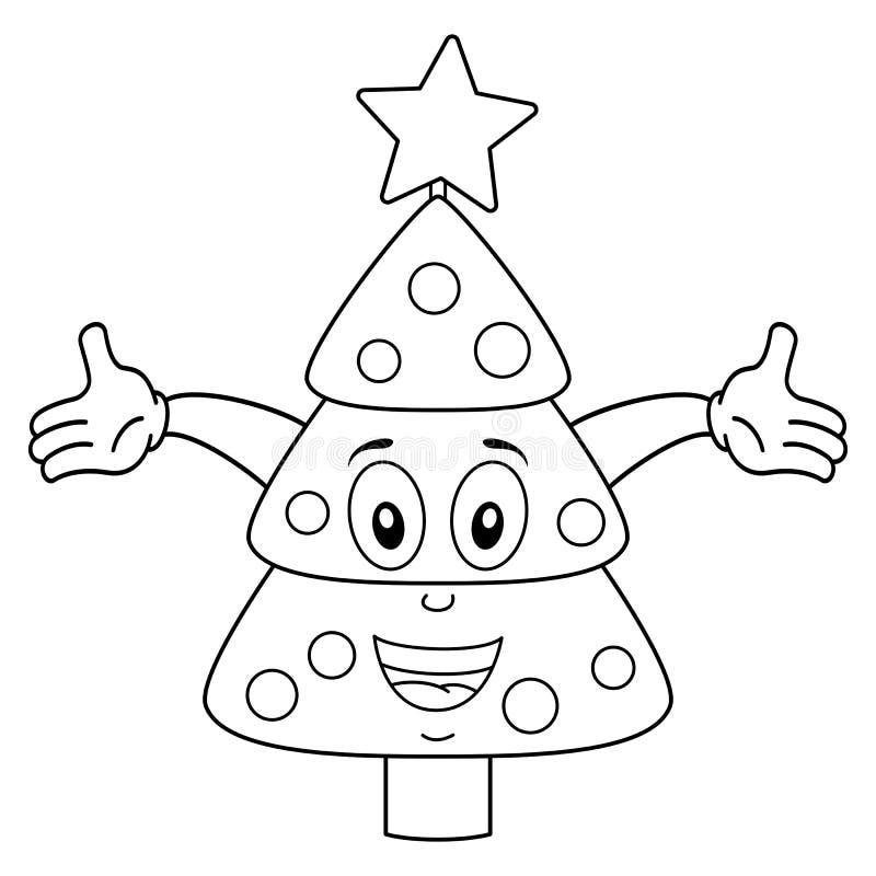 Barwić Szczęśliwego choinka charakteru ilustracja wektor